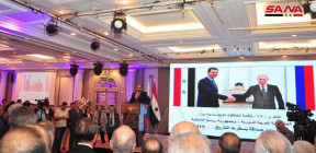 حفل استقبال بمناسبة الذكرى ال 75 لإقامة العلاقات الدبلوماسية السورية الروسية