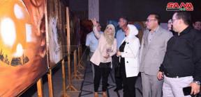 معرض تشكيلي في قاعة العرش بقلعة حلب