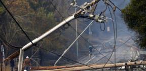 سقوط أحد أبراج الكهرباء بريف جبلة بسبب الرياح
