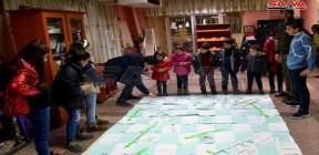 أنشطة توعوية للوقاية من فيروس كورونا ضمن فعاليات مهرجان ربيع الطفولة في حمص