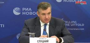 سلوتسكي يدعو للوقوف بحزم ضد الإجراءات القسرية المفروضة على سورية
