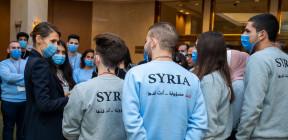 السيدة أسماء الأسد تلتقي الفرق الوطنية للأولمبياد العلمي السوري 2021
