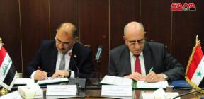 التوقيع على محضر اجتماعات الجانبين السوري والعراقي.. تأسيس نقطة ارتكاز للتعاون الصناعي بين البلدين