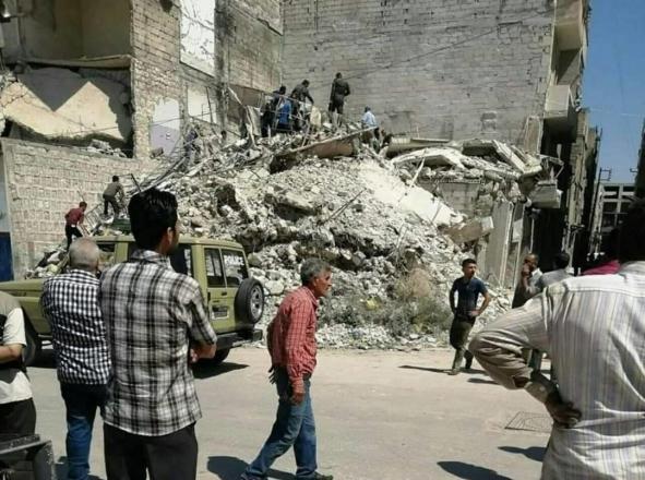 سوريا.. قتلى وجرحى بانهيار مبنى سكني في حلب