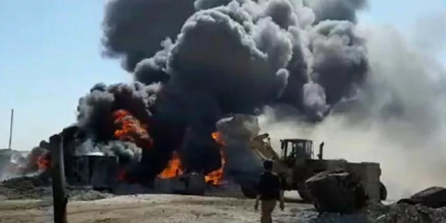 ضربات صاروخية عنيفة تستهدف مصافي النفط السوري شرقي حلب
