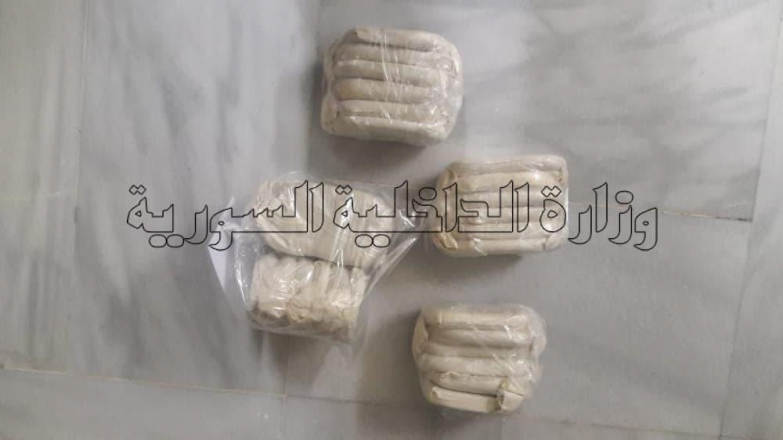 القبض على مروج بحوزته أكثر من6 كغ من الحشيش المخدر بدمشق 2021-04-12