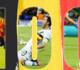 هازارد يحتفل بمباراته الـ100 مع بلجيكا